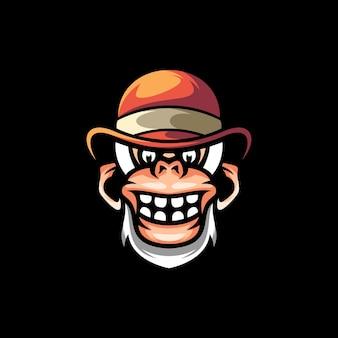 Design de mascote de macaco