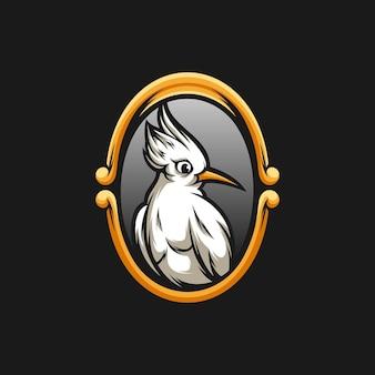 Design de mascote de pássaro