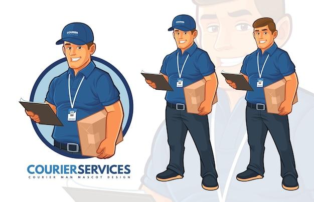 Design de mascote de serviços de correio
