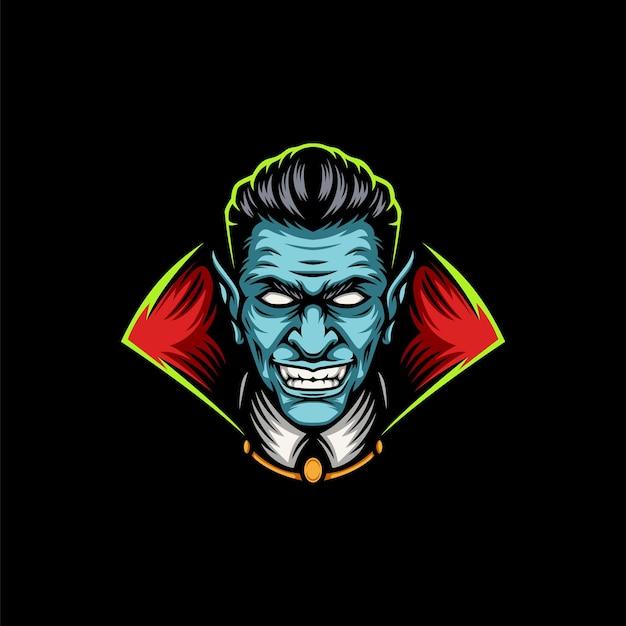 Design de mascote de vampiro