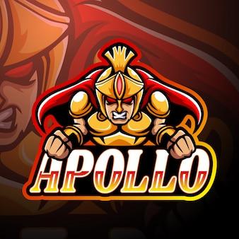 Design de mascote do logotipo apollo esport