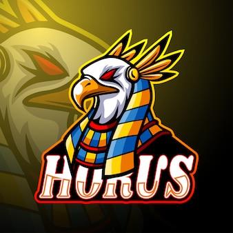 Design de mascote do logotipo horus esport