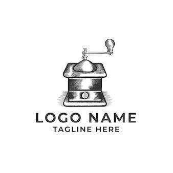 Design de mascote do moedor de café