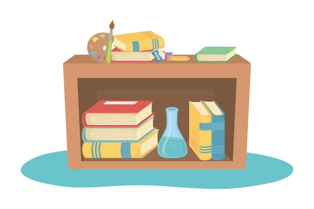 Design de material escolar e escolar