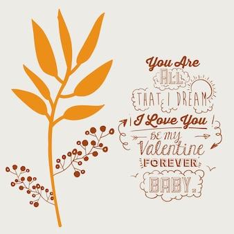 Design de mensagem de amor