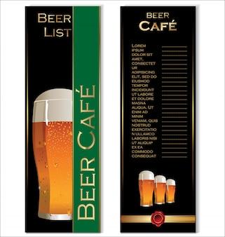 Design de menu de cerveja de restaurante