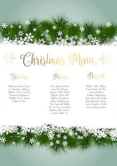 Design de menu de natal