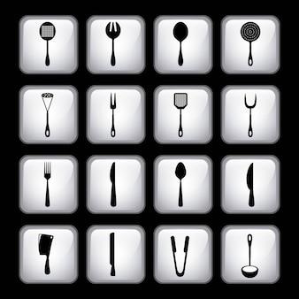 Design de menu de talheres