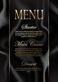 Design de menu de textura de mármore elegante Vetor grátis