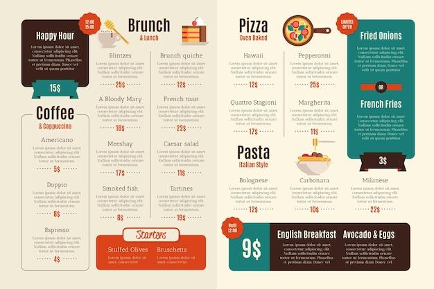 Design de menu digital de restaurante