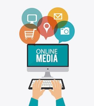 Design de mídia online.