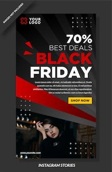 Design de mídia social do banner black friday