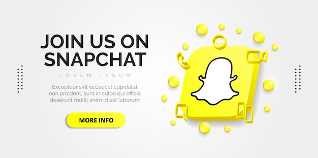 Design de mídia social do snapchat