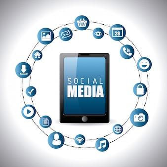 Design de mídia social.