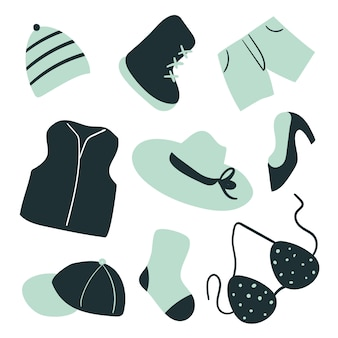 Design de moda coleção vector