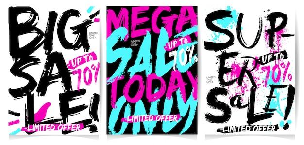 Design de moda de banner de venda