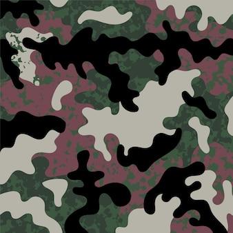 Design de moda de padrão sem emenda com camuflagem militar verde.