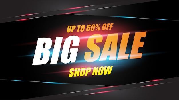 Design de modelo abstrato de banner de venda para publicidade, ofertas especiais, vendas e descontos