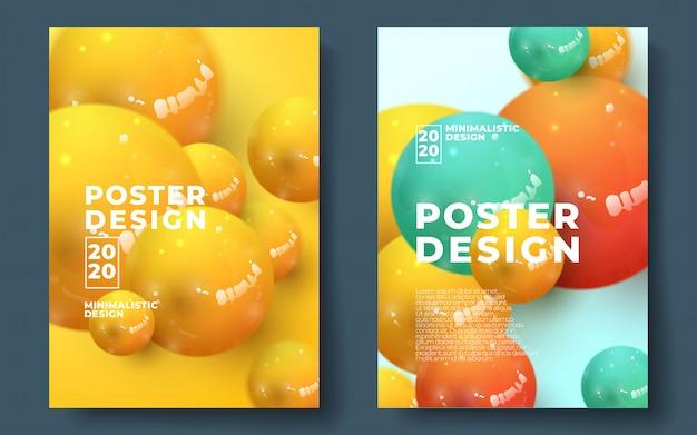 Design de modelo abstrato de panfleto ou cartaz