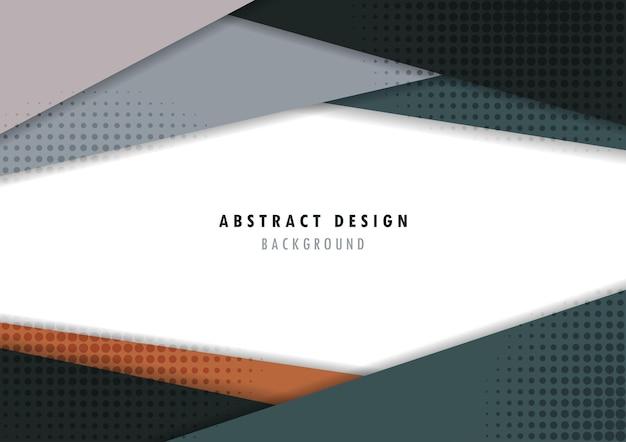 Design de modelo abstrato de tecnologia com modelo de design de meio-tom mínimo de círculo. sobreposição do fundo do projeto da capa.