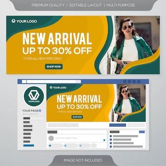Design de modelo de anúncios de capa para facebook