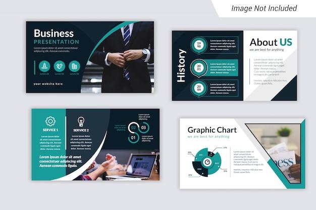 Design de modelo de apresentação de negócios corporativos com infografia.