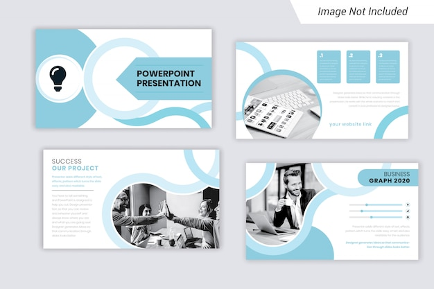Design de modelo de apresentação de negócios corporativos