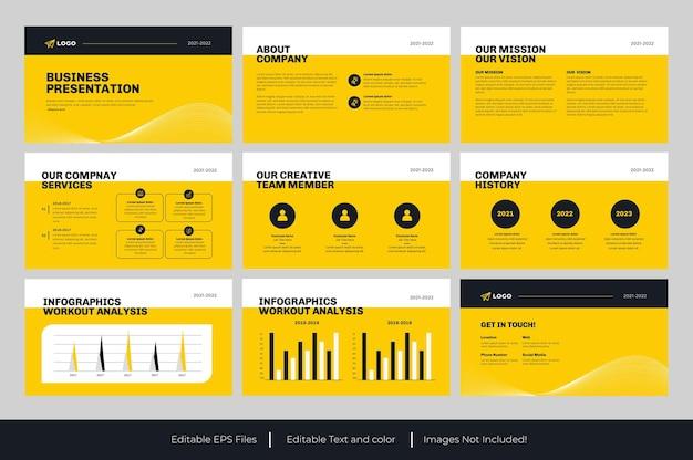 Design de modelo de apresentação de negócios em powerpoint