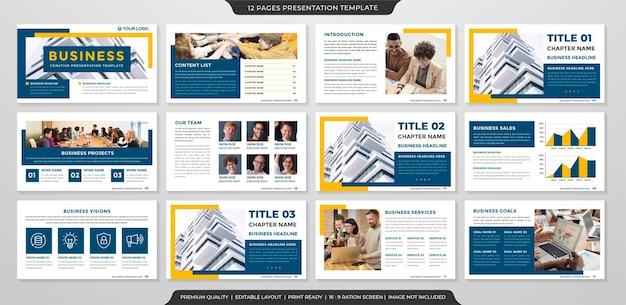 Design de modelo de apresentação de negócios limpo