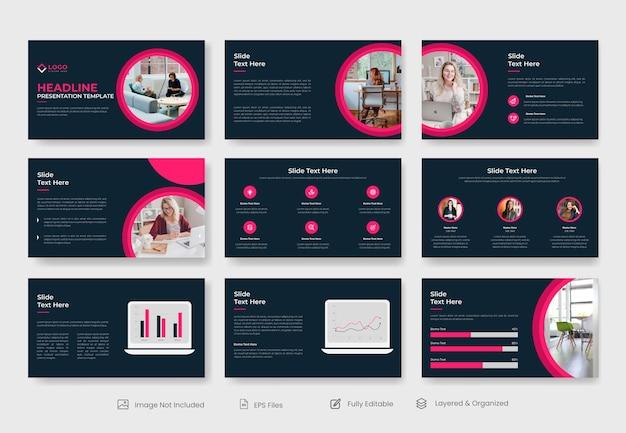 Design de modelo de apresentação de powerpoint mínimo para negócios
