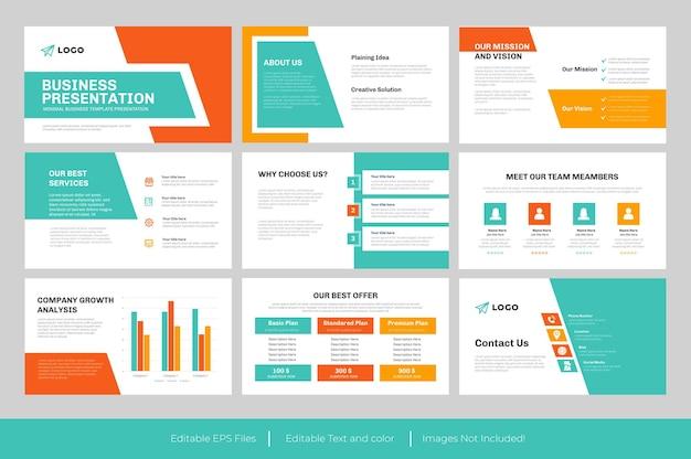 Design de modelo de apresentação de powerpoint para negócios