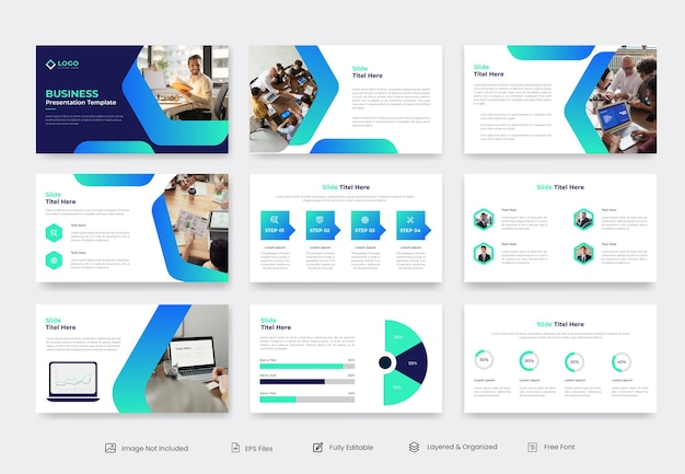 Design de modelo de apresentação empresarial e corporativa