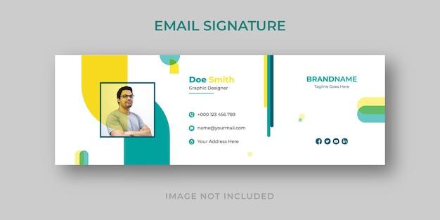 Design de modelo de assinatura de e-mail