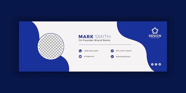 Design de modelo de assinatura de email ou modelo de capa do facebook