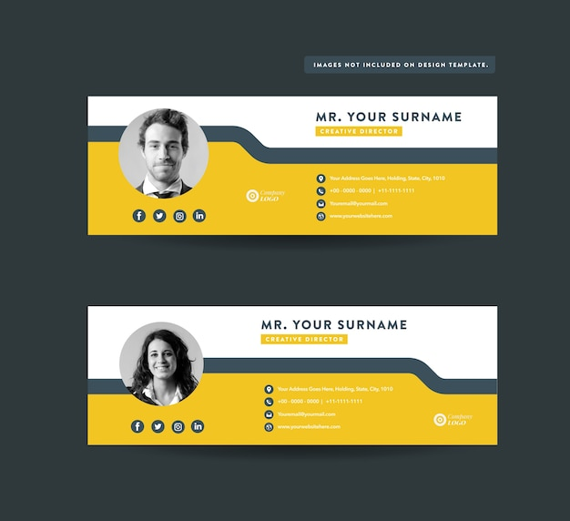Design de modelo de assinatura de email