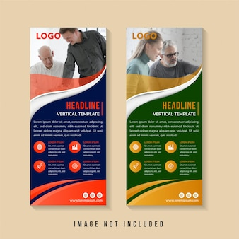 Design de modelo de banner abstrato com espaço para foto.