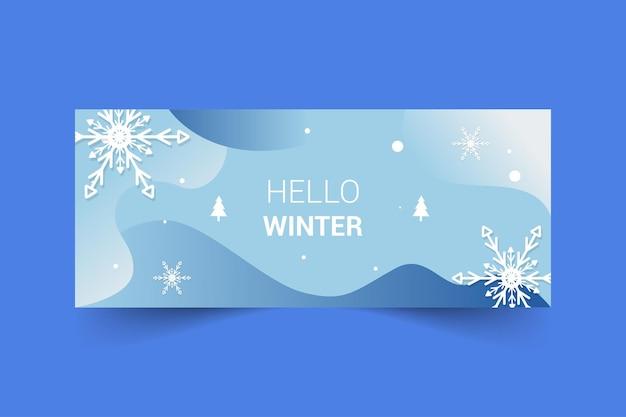 Design de modelo de banner com tema de primavera para banner de fanpage de mídia social