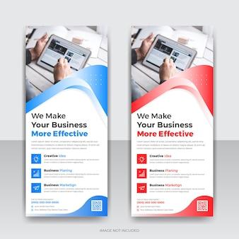 Design de modelo de banner cumulativo de agência de negócios corporativos
