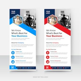 Design de modelo de banner cumulativo de empresa de negócios corporativos modernos