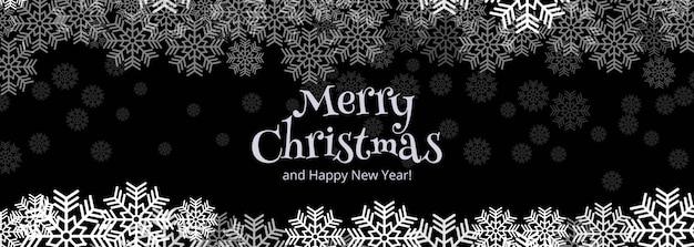 Design de modelo de banner de cartão de comemoração feliz natal