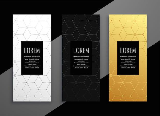 Design de modelo de banner de cartão de menu vertical premium
