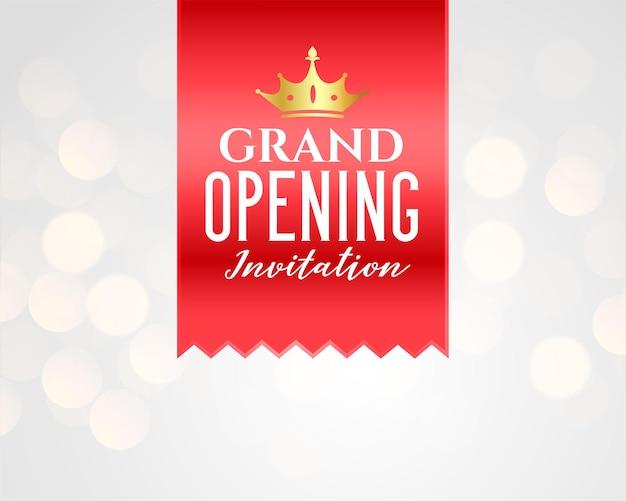 Design de modelo de banner de celebração de inauguração