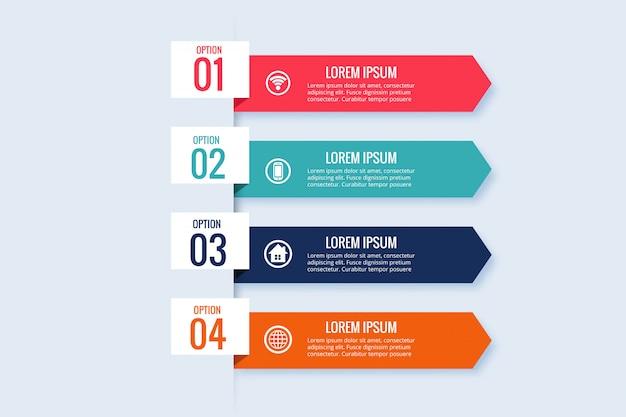 Design de modelo de banner de negócios infográfico