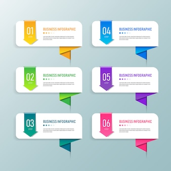 Design de modelo de banner de negócios infográfico.