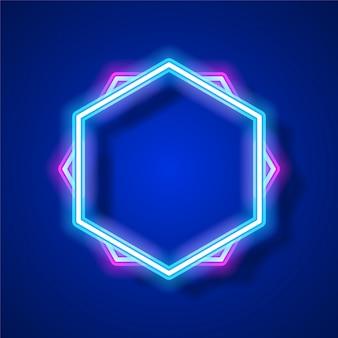 Design de modelo de banner de néon.
