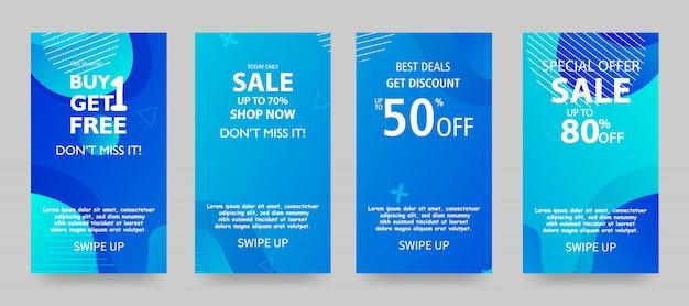 Design de modelo de banner de venda, oferta especial de final de temporada