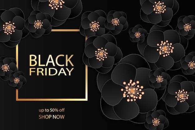 Design de modelo de banner de venda sexta-feira negra.