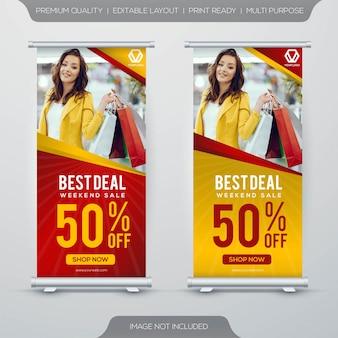 Design de modelo de banner de venda