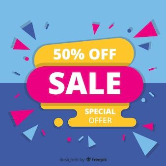 Design de modelo de banner de vendas, oferta especial