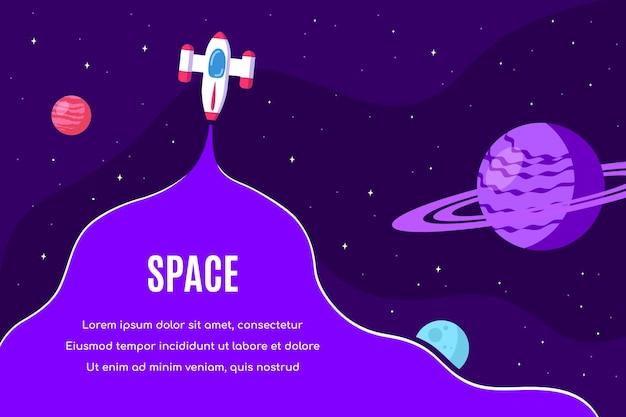 Design de modelo de banner para espaço exterior, ciência, astronomia e astrofísica